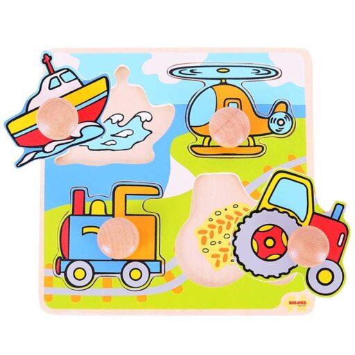 Bigjigs Toys Vkládací puzzle doprava