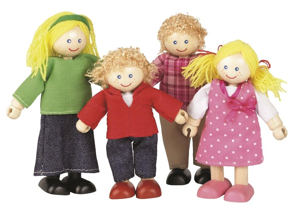Tidlo Dřevěné panenky do domečku Rodina