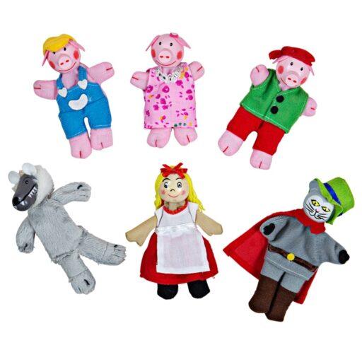 Bigjigs Toys Prstoví maňásci pohádkové postavičky
