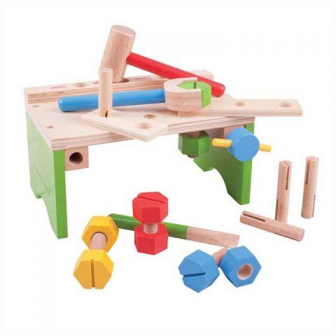 Bigjigs Toys Ponk s nářadím a zatloukačka