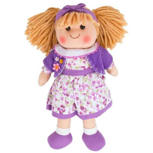 Bigjigs Toys Látková panenka Laura 34 cm