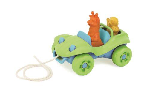 Green Toys Tahací auto zelené