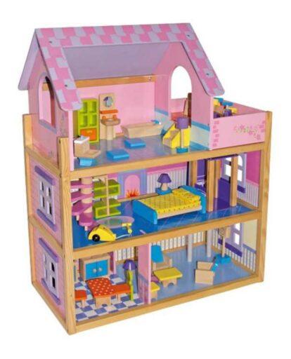 Small Foot Velký dřevěný růžový domeček pro panenky
