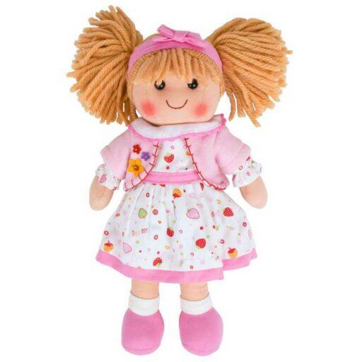 Bigjigs Toys Látková panenka Kelly 34 cm