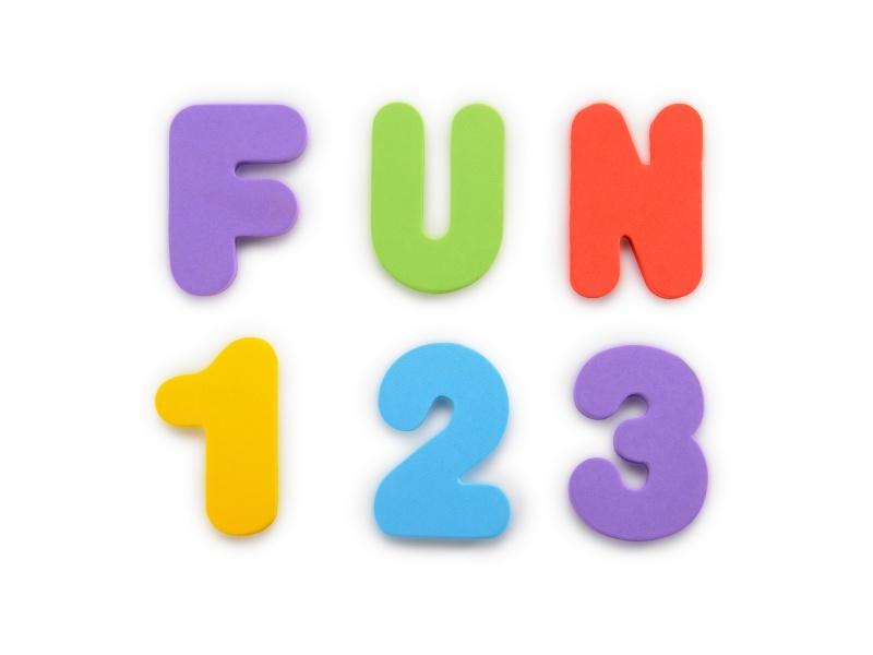 Munchkin - Písmena a čísla do vany