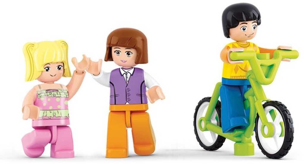 SLUBAN Stavebnice GIRLS Supermarket set 289 dílků + figurka 3ks plast