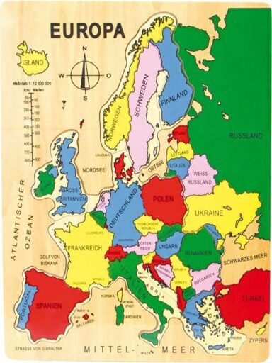 Small Foot Vkládací puzzle Evropa