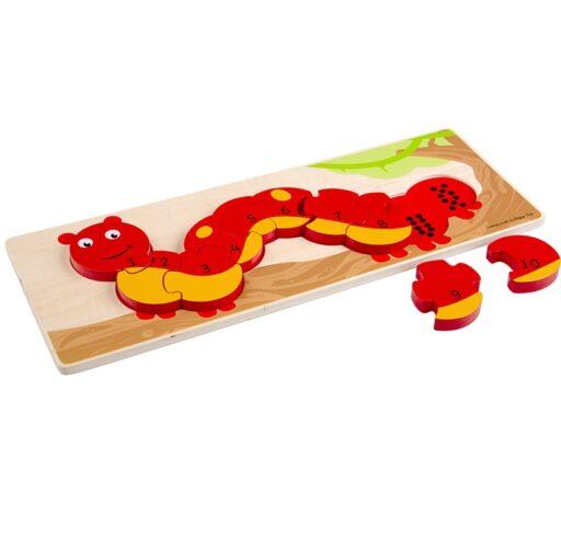 Bigjigs Toys Počítací puzzle housenka