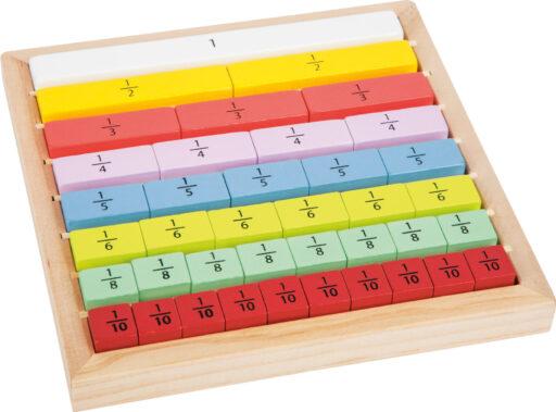 Small Foot Edukativní tabulka barevná zlomky