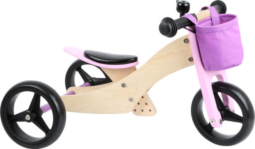 Small Foot Dřevěné odrážedlo Trike 2 v 1 růžové