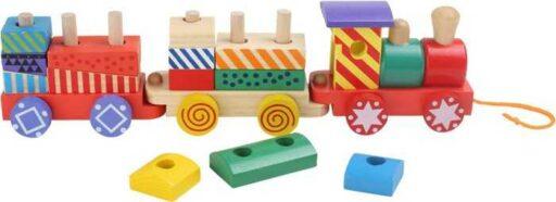 Dřevěné hračky - Vlak pestrobarevný