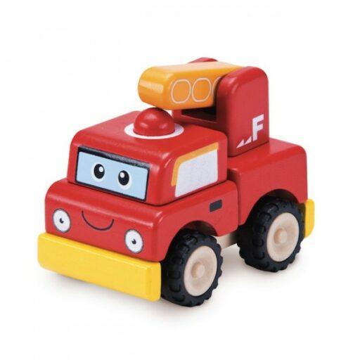 Wonderworld Dřevěný mini hasičský vůz