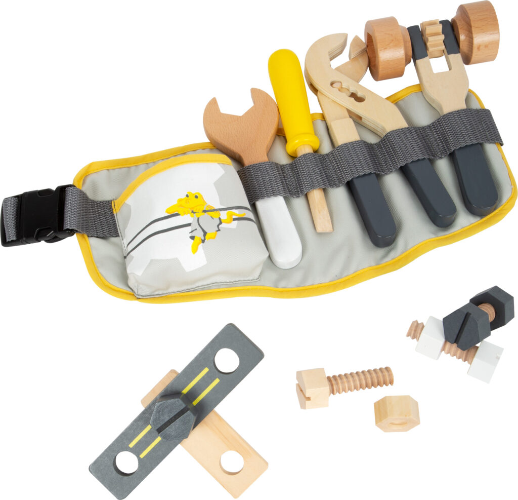 Small Foot Pás s nastavitelným popruhem a nářadím Miniwob
