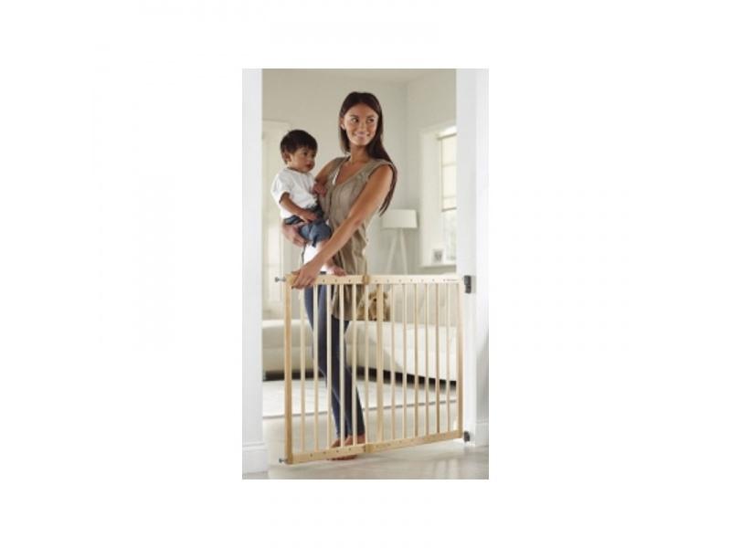 Lindam - Dětská zábrana s posuvnou šířkou dřevo
