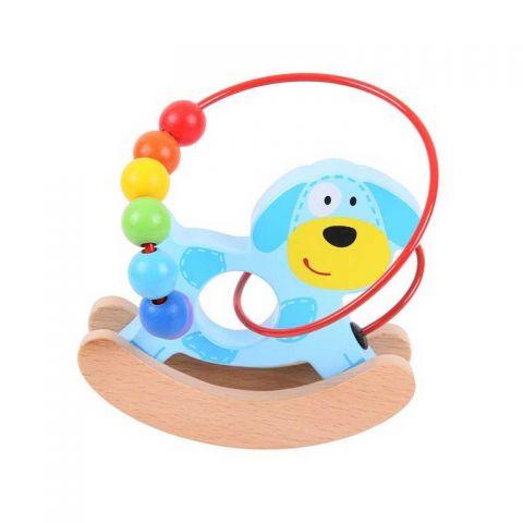 Bigjigs Baby Motorický labyrint houpačka pejsek