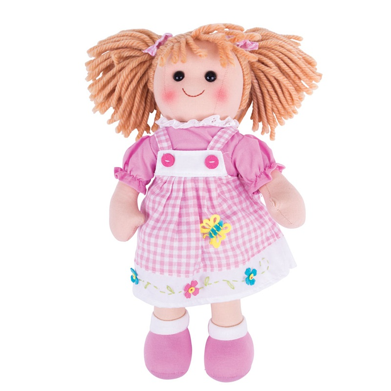Bigjigs Toys Látková panenka Eva 34 cm