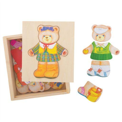 Bigjigs Toys Oblékací puzzle Paní medvědice