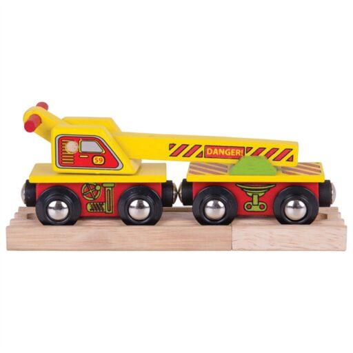 Bigjigs Rail Vagón s jeřábem