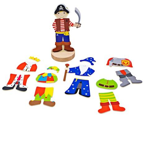 Bigjigs Toys Magnetické oblékací puzzle mystické postavy