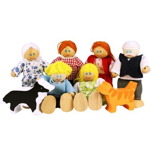 Bigjigs Toys Set rodinky do domečku 8ks
