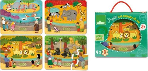 Vilac Dřevěné puzzle Zoo