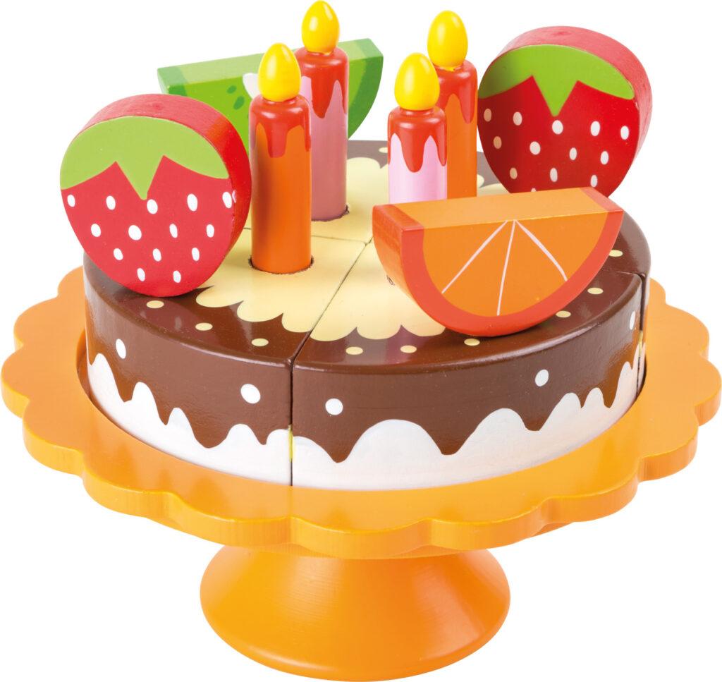 Small Foot Dřevěný narozeninový ovocný dort