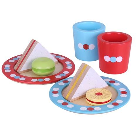 Bigjigs Toys Set svačinka s puntíky
