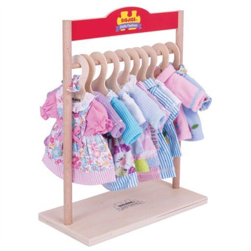 Bigjigs Toys Věšák na šaty pro panenky