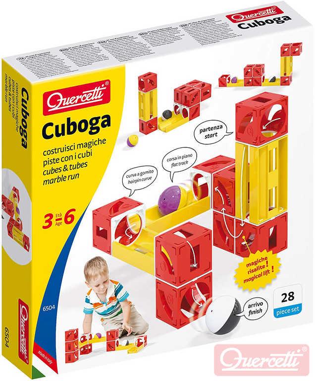 QUERCETTI Cuboga Basic kuličková dráha 28 dílků 2 kuličky STAVEBNICE