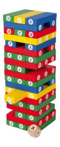 Small Foot Dřevěná barevná hra Jenga