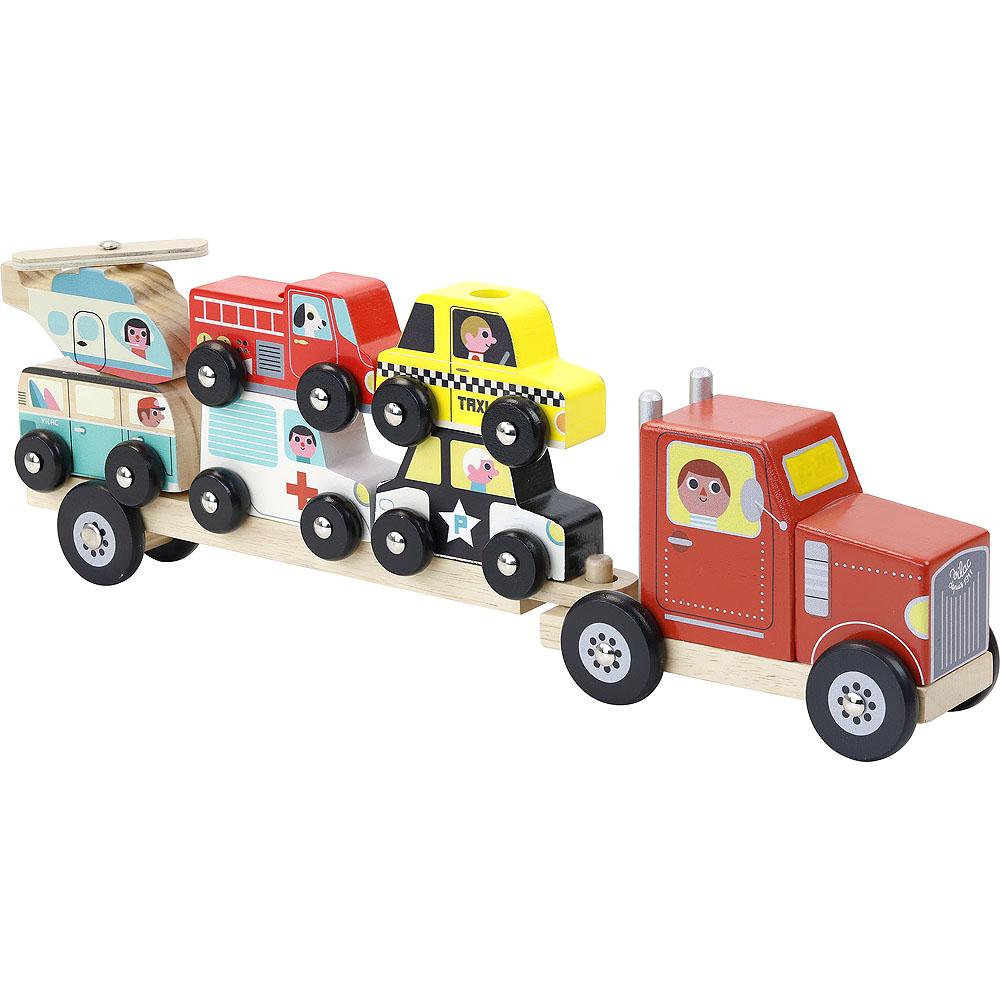 Vilac Dřevěný kamión s autíčky na nasazování