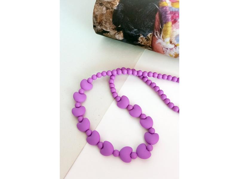 MIMIKOI - Kojící korále se srdíčky světle fialový