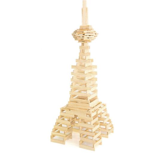 Jeujura Dřevěná stavebnice Tepac 200 dílků