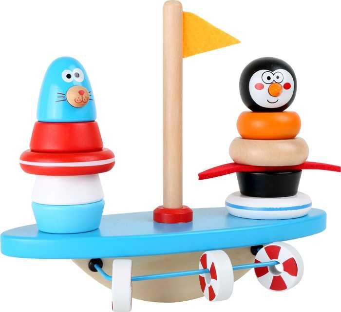 Small Foot Dřevěná motorická balanční hra jžní pól