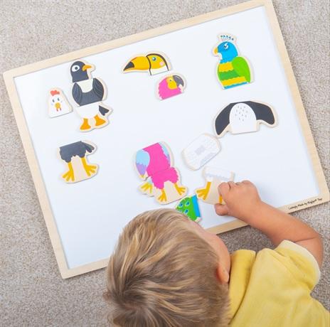 Bigjigs Toys Magnetická tabulka ptačí přátelé