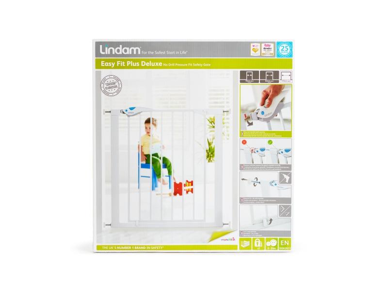 Lindam - Dětská zábrana Easy Fit Plus Deluxe