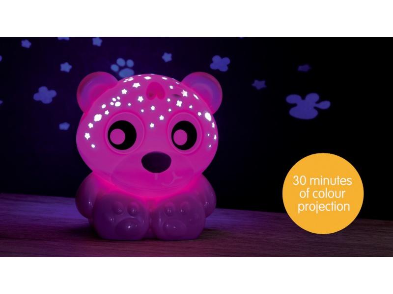 Playgro - Usínací lampička medvídek s projektorem - růžový