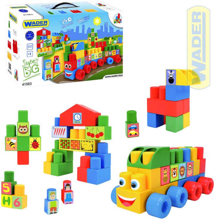 WADER Middle Block baby kostky velké 140ks plast STAVEBNICE 41583