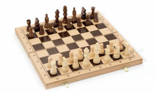 Jeujura Šachy v dřevěném skládacím boxu