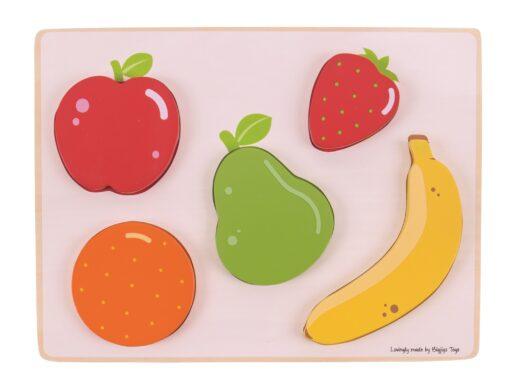 Bigjigs Toys Vkládací puzzle ovoce