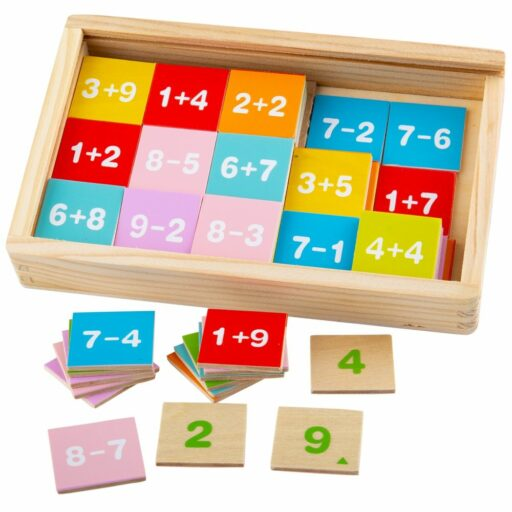 Bigjigs Toys Sčítání a odčítání v krabičce