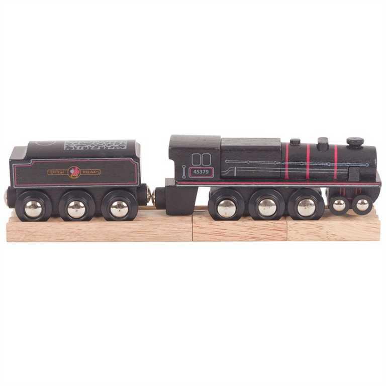 Bigjigs Rail Dřevěná replika lokomotivy Black 5 engine