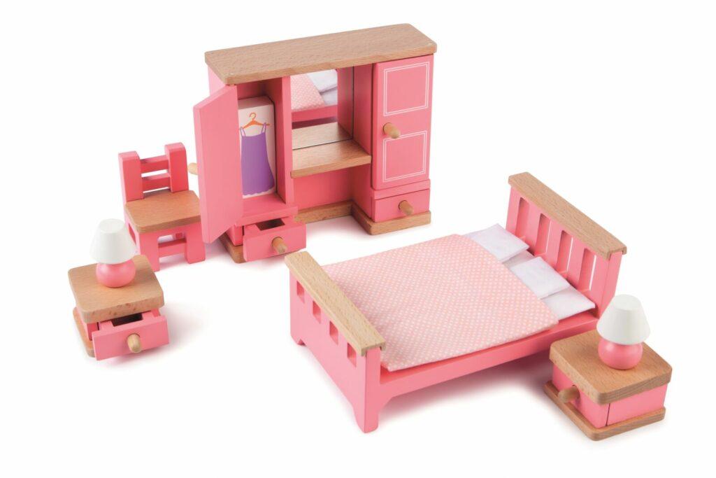 Tidlo Dřevěný nábytek ložnice růžová