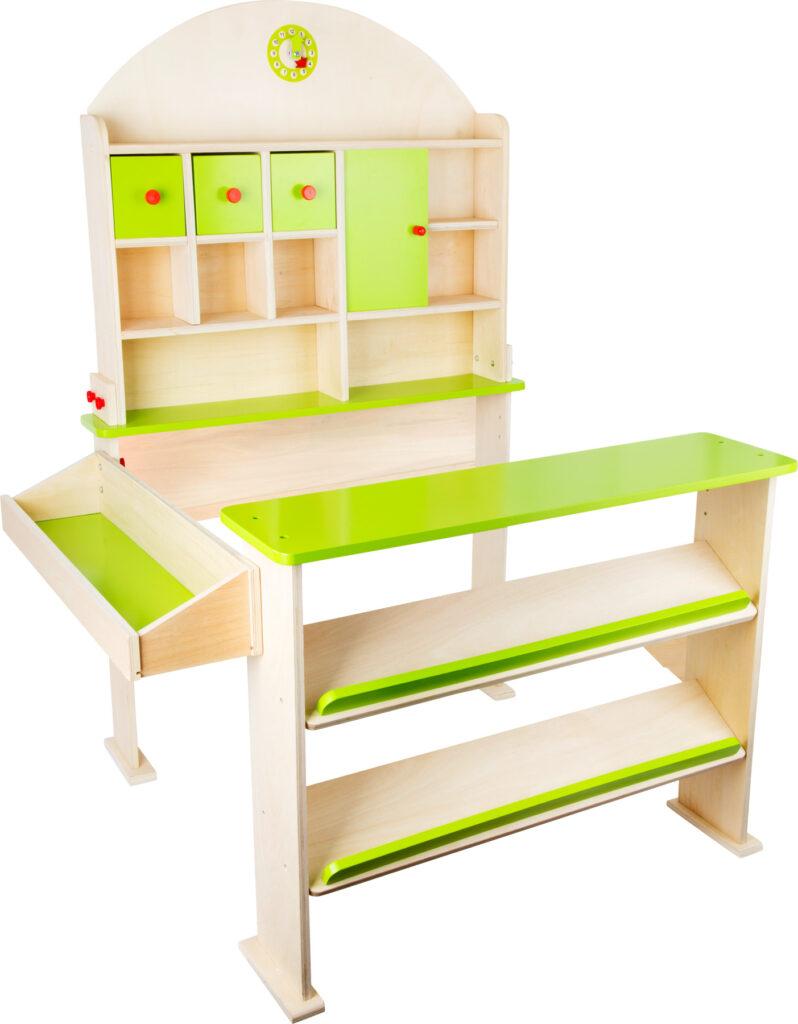 Small Foot Dřevěný prodejní stánek zelený