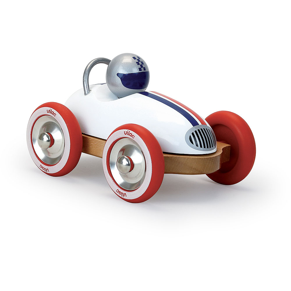 Vilac Dřevěné auto Roadster vintage bílé
