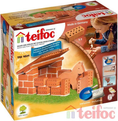 TEIFOC Domek Horses 1021 *Stavebnice cihly s maltou*