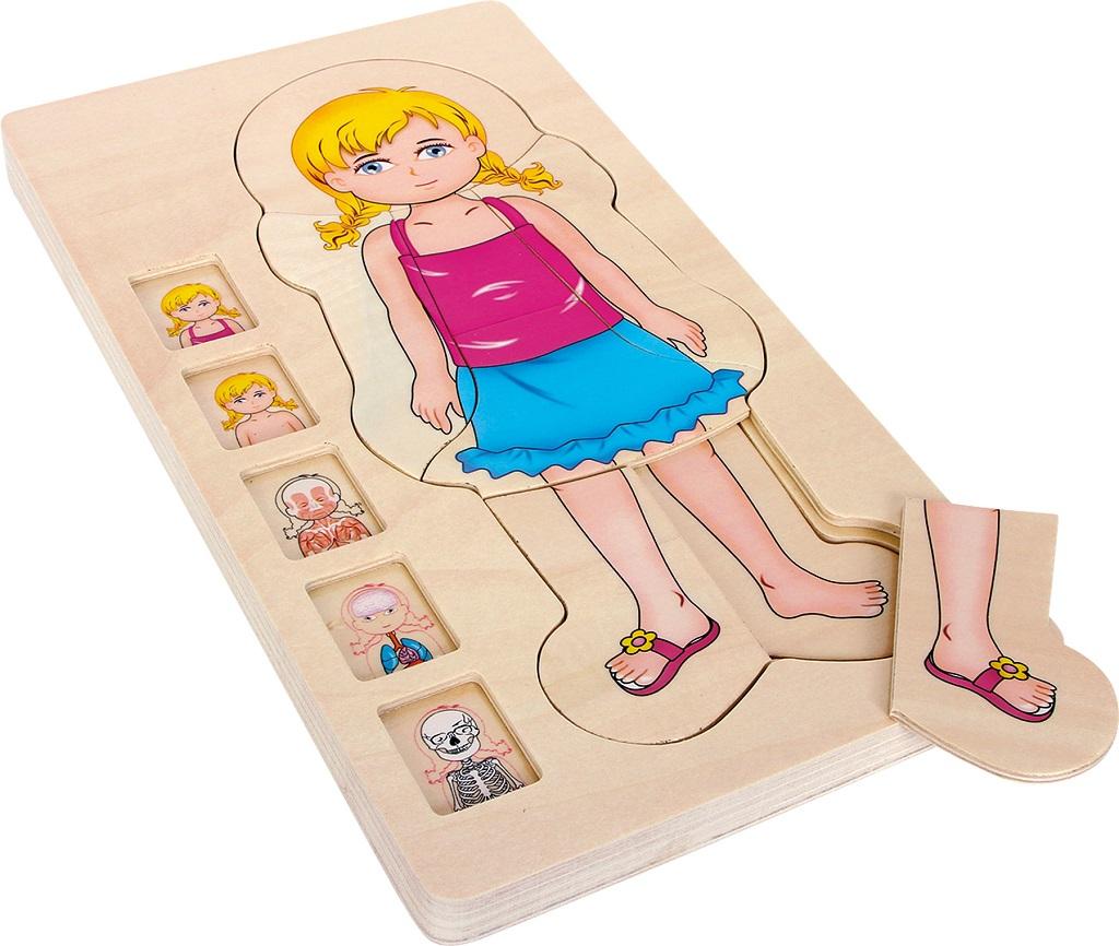 Small Foot Dřevěné puzzle anatomie