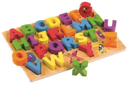Tidlo Dřevěná vkládací abeceda