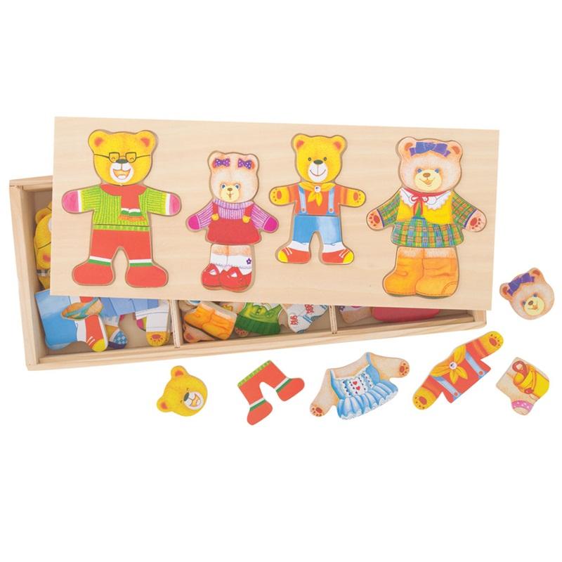 Bigjigs Toys Oblékací puzzle Medvědí rodinka