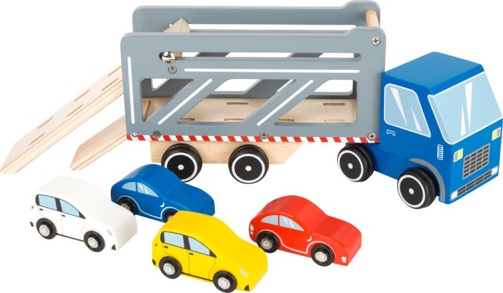 Small Foot Dřevěný transporter s 4 auty Premium